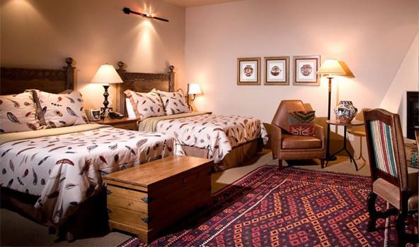 Hacienda Fireplace Double Guestroom